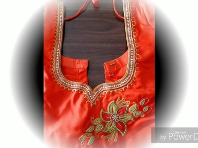New aari embroidery blouse designs