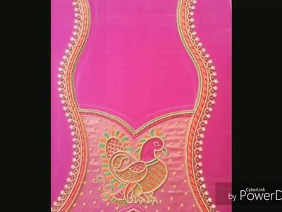 New aari embroidery blouse designs