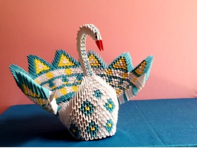 Origami 3d swan tutorial - how to make swan origami 3d - xếp thiên nga bằng giấy origami 3d