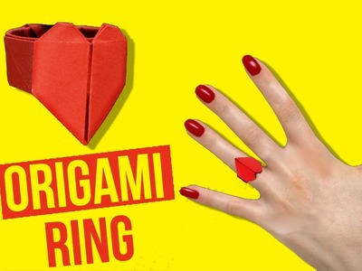 Origami: Paper Heart Ring-How to Make Origami Heart Ring | Heart Ring Instructions-DIY Paper Crafts.