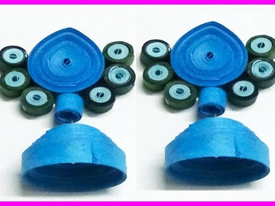 Paper Quilling:How to make a jhumkas and earrings easy method Earrings Making video