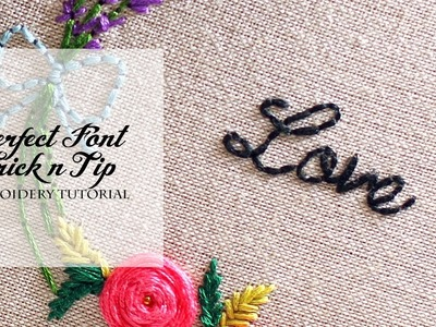 Perfect Font Trick n Tip - Simple & Easy Embroidery Tutorial