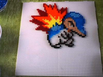 Pokémon CYNDAQUIL - Hama Beads. Perler Beads