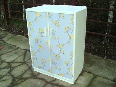 Retro painted shabby chic decoupage child's wardrobe