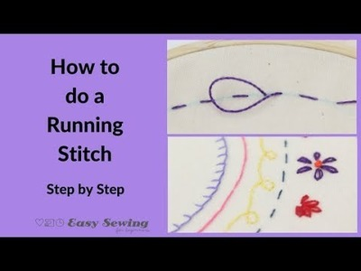 Running Stitch -  Hand Embroidery for Beginners