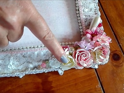 Shabby Chic Altered Picture Frame