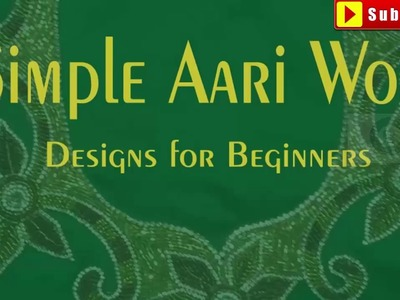 Simple aari work designs images   aari work designs for beginners   aari work design patterns