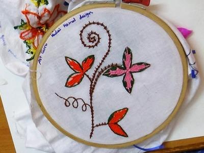 Simple Kadai Kamal embroidery Work design by Art Guru