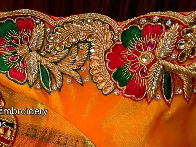 Simple maggam work blouse designs easy,hand embroidery designs,hand embroidery designs for beginners