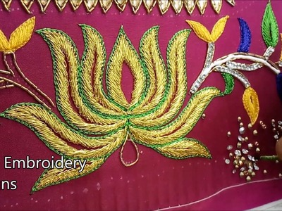 Simple maggam work blouse designs | hand embroidery designs | hand embroidery designs for beginners