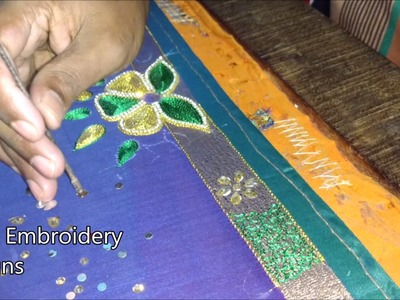 Simple maggam work blouse designs | hand embroidery designs | basic embroidery stitches designs