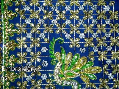 Simple maggam work blouse designs | hand embroidery designs | hand embroidery for beginners