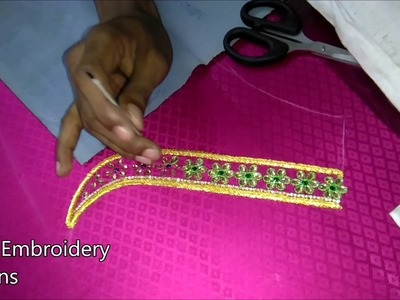 Simple maggam work blouses | hand embroidery designs | hand embroidery designs for beginners