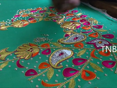 Simple maggam work blouses designs | hand embroidery tutorial for beginners,basic embroidery designs
