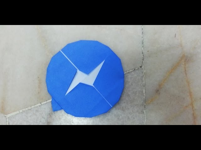 Simple Origami Facebook Messenger Icon Tutorial - How to