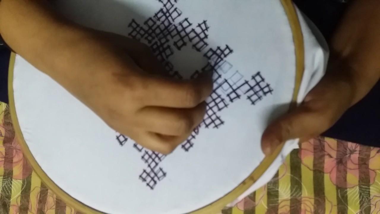 Sindhi embroidery stitch big design handy work my crafts