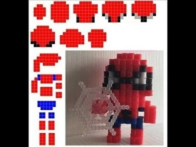Spiderman en 3D de hama beads