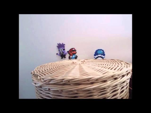 Super Mario World Hama Bead Animation