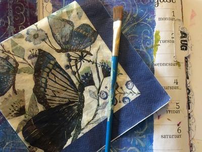 Technique Thursday #19 Mixed Media Bible Art Journal Page using napkins