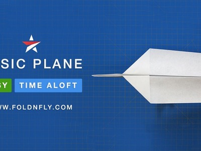 ✈ The Basic Paper Airplane - Easy Folding Instructions for Kids - Fold 'N Fly