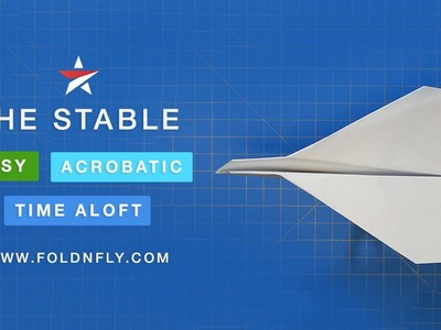 ✈ The Stable Paper Airplane That Flies Far and Does Flips - Fold 'N Fly