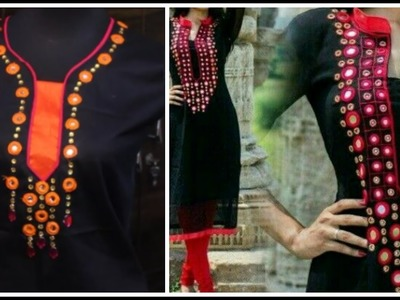 Trendy Neck Design With Mirror Work Easy To Make