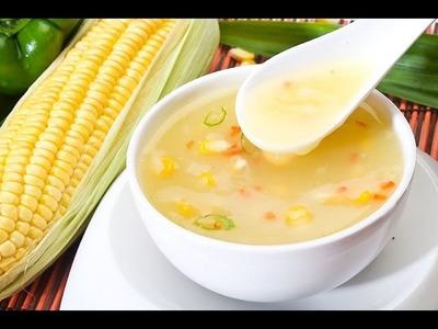 ★ Veg Sweet Corn Soup Restaurant Style | How to make Soup | Soup Recipes @ Guru's Cooking