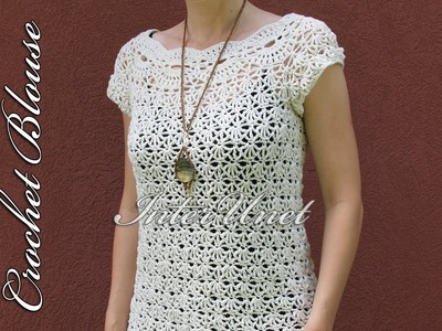 White summer blouse – jasmine top crochet pattern