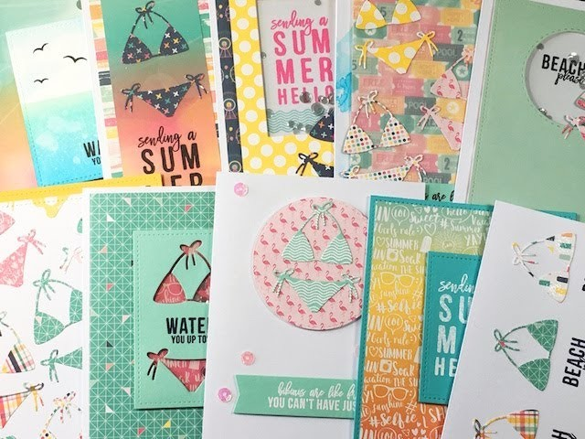 10 Cards 1 Kit, Simon Says Stamp Card Kit July 2017, Summer Hello, My Crafts ...