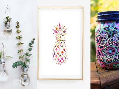 15 SUPER COOL DIY ROOM DECOR YOU NEED TO TRY THIS SUMMER ! JULY 2017
