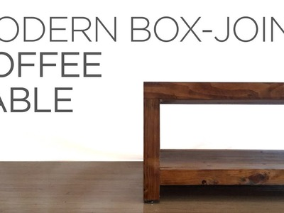 2 x 3 Modern Box-Joint Coffee Table | 15 | The Cutting Bored