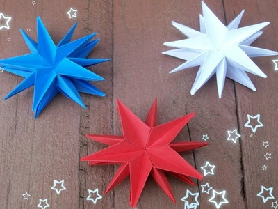 4TH OF JULY CRAFT IDEAS| EASY PAPER STARS PARTY DECORATIONS| HOME DECOR