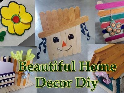 5 Amazing and Short Home Decor Art by DiyArtiePie || Popsicle Stick Craft || Ice Cream Stick Craft