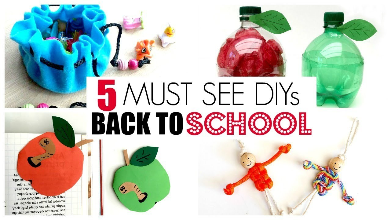 5 FUN Back to School DIY Ideas - MUST TRY DIY Back to School Supplies - Must see!