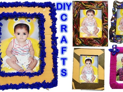 5 Waste Material Photo Frame || Diy || Gifts || craft || Best out of waste