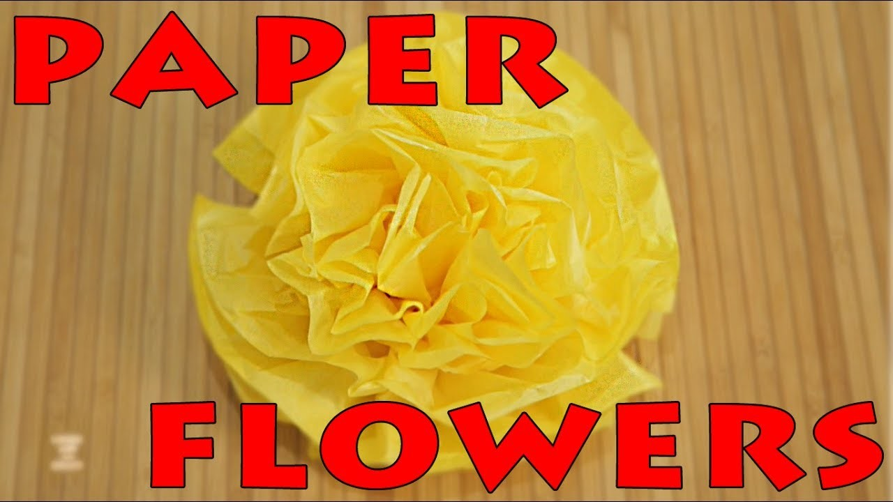 Artificial Flower Making | DIY Arts And Crafts | Paper Flowers