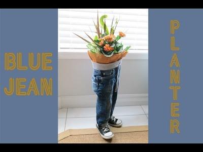 Blue Jean Planter_Birdz of a Feather ~ Craft Rehab