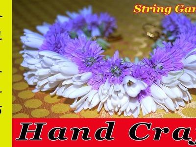 Bridal Wedding Garland Sammangi With Colour Flowers|Easy String Garland