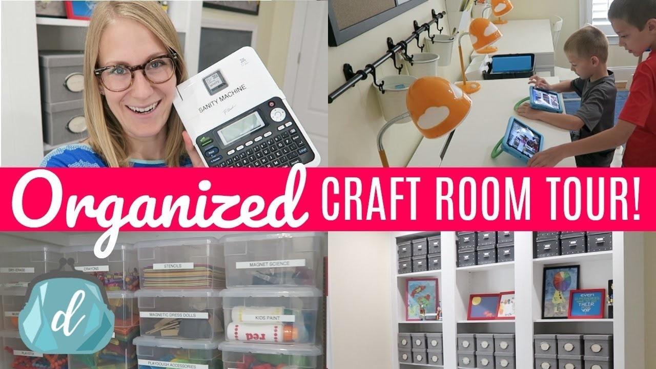 Budget Craft Room Organization Ideas | Back to School Room Tour & Makeover!!