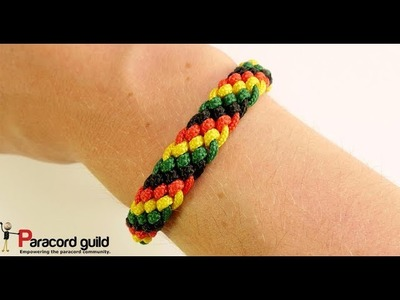 Candy stripe paracord bracelet- single row