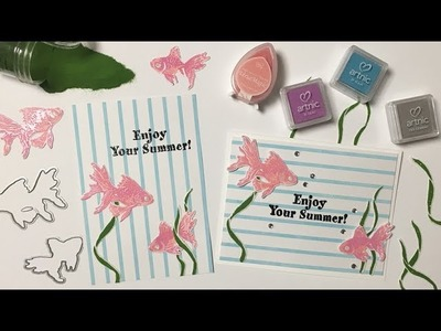 Card making  Sumer Card Ⅰ 暑中お見舞い DIY クラフト OKAPI CRAFT HOBBY