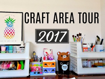 Craft Area Tour of 2017! (Squishy Supplies, Storage, Filming Area, etc.) | mishcrafts