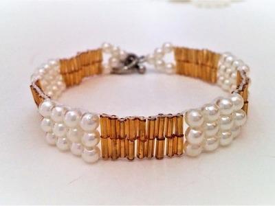 Craft ideas 4u beading tutorial. How to make an easy bracelet .