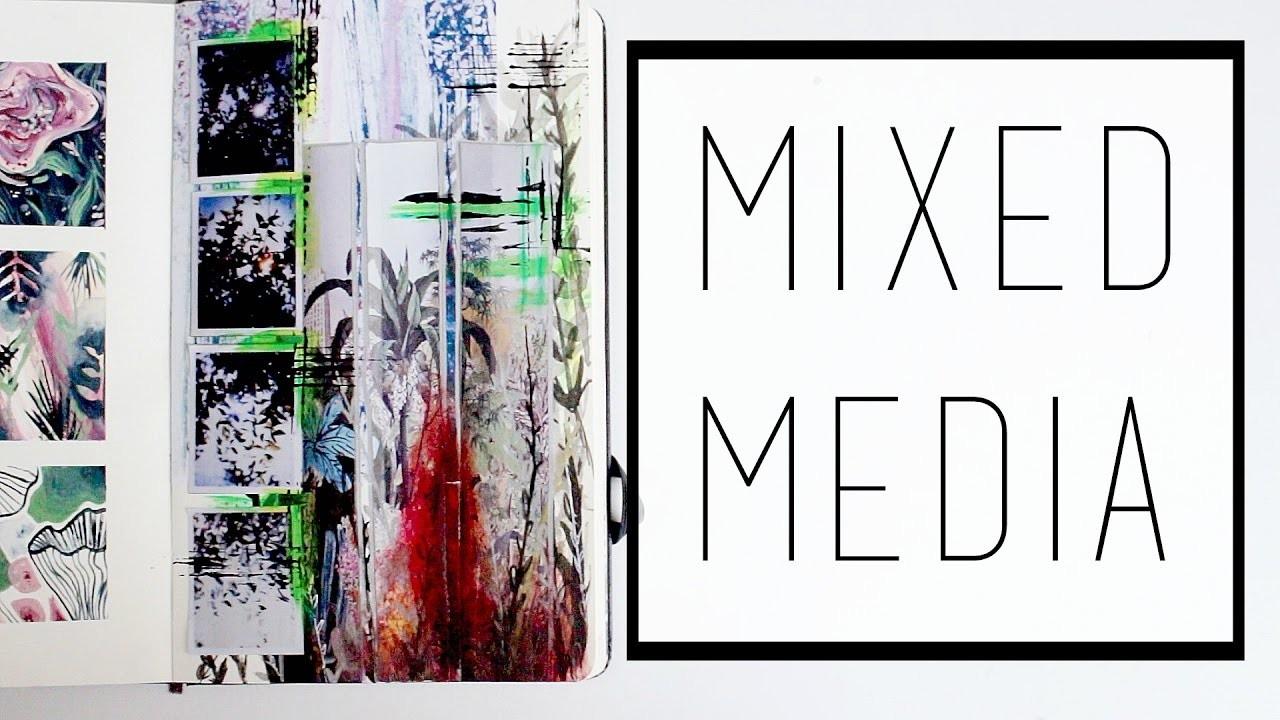 Creating a Mixed-Media Piece · 30 Ways to Fill a Sketchbook · SemiSkimmedMin