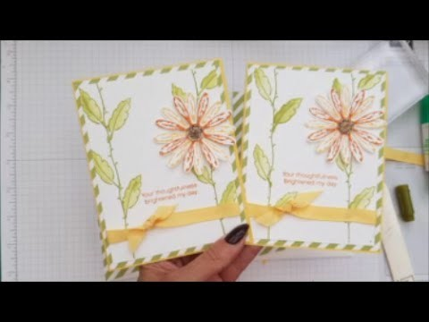 Daisy Delight Card & Matching Envelope. Case Card Class #66 Stampin up Stamps. Quick & Easy cards