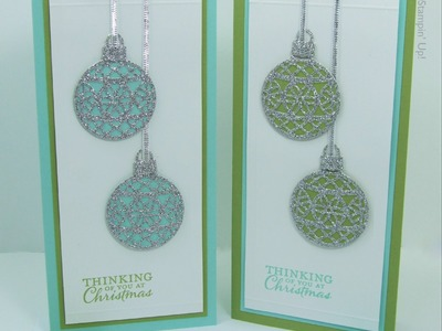 Day 1 - Embellished Ornaments Series - Box of Cards, Gift Cards & Tags Stampin' Up! UK