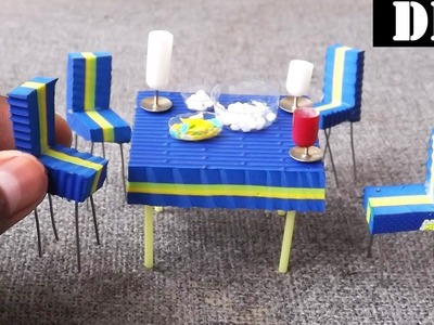 Dining Table and Chairs DIY | Easy Miniature Furniture Craft Ideas
