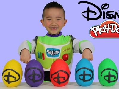 Disney Pixar Wind-Up Play-Doh Surprise Eggs Opening Fun With Buzz Lightyear Woody Disney Cars