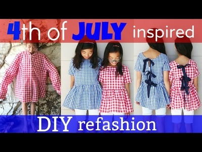 DIY | 4th of JULY INSPIRED SHIRT TO DRESS REFASHION: How to transform old clothes
