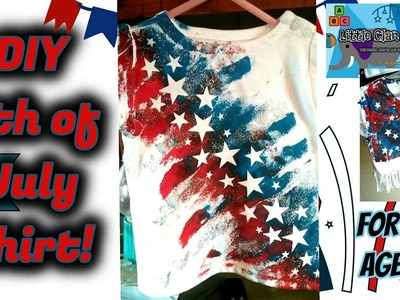 DIY 4th of July t-shirt craft for all ages!!!